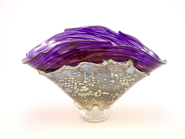 Violet and Gold Overlay Bowl