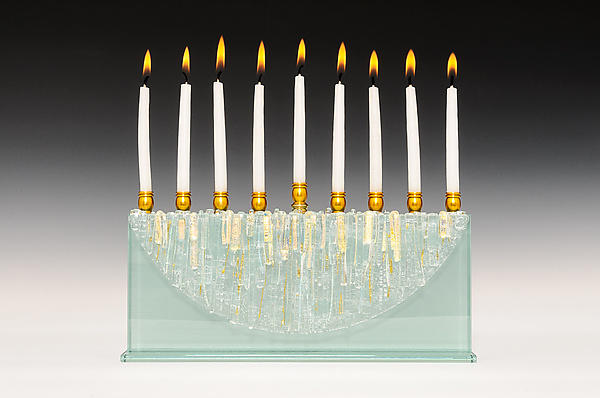 Half Moon Diamond Icicle Menorah