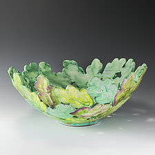 Leaf Bowl by Peggy Crago (Ceramic Bowl)