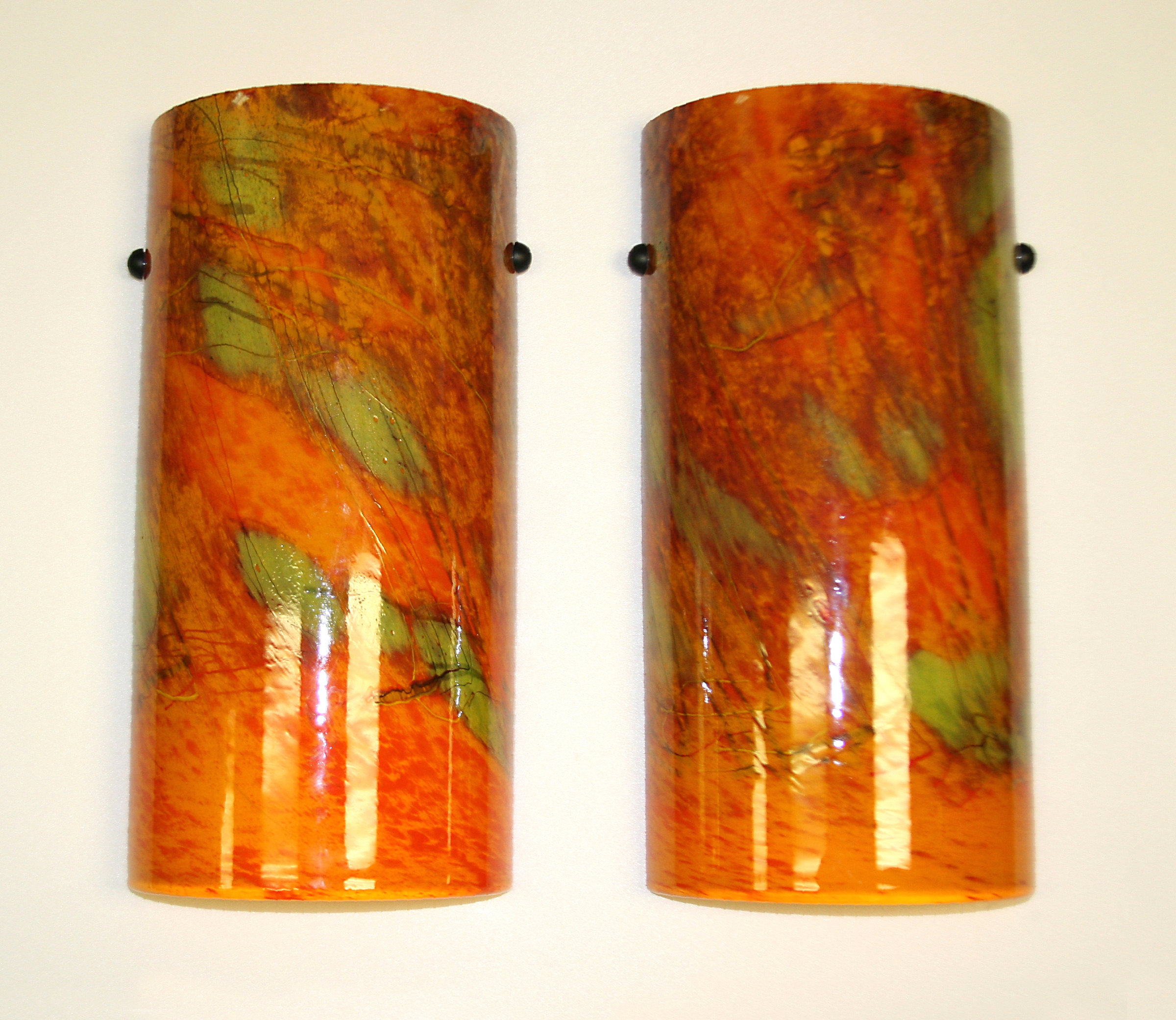 Artistic Glass Wall Sconces : Tuscany Sconce by Joel and Candace Bless (Art Glass Sconce) Artful Home