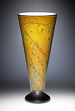 Oriental Yellow V-Lite by Joel and Candace  Bless (Art Glass Table Lamp)
