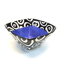 Small Square Bowl in Blue by Matthew A. Yanchuk (Ceramic Bowl)