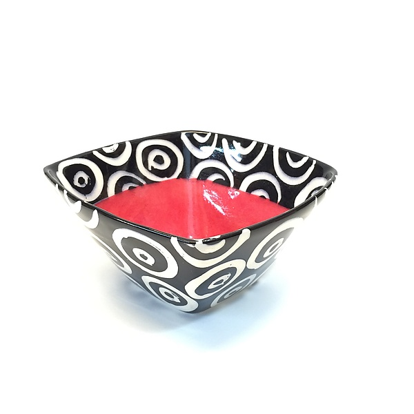 Small Square Bowl in Red