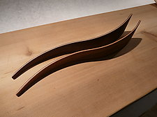 Two-Toned Salad Servers by Karel Aelterman (Wood Serving Utensils)