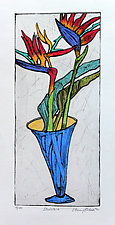 Strelitzia by Penny Feder (Etching)