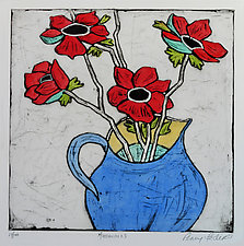 Anemones by Penny Feder (Etching)