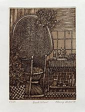 Wicker Corner by Penny Feder (Etching)