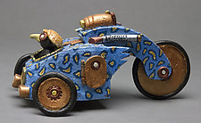 Crow Car by Byron Williamson (Ceramic Sculpture)