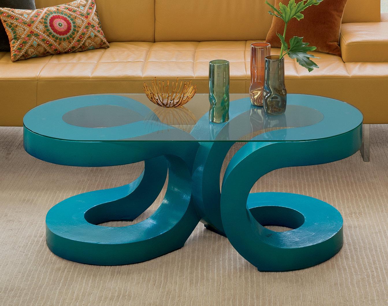 2u coffee table by john wilbar wood coffee table for Teal coffee table