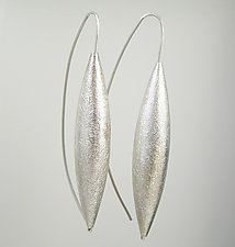 Long Silver Drop Earrings on Wire by Claudia Endler (Silver Earrings)