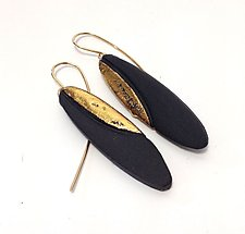 Ellipse Luster Earrings by Syra Gomez (Ceramic Earrings)