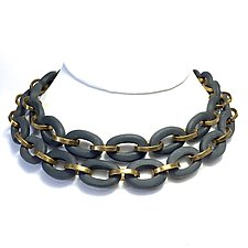Oval Links Necklace by Syra Gomez (Ceramic Necklace)