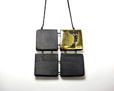 Grid Squares Necklace by Syra Gomez (Ceramic Necklace)