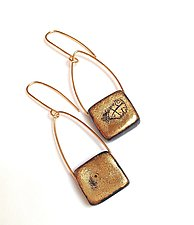 Squares Pendant Earrings by Syra Gomez (Ceramic Earrings)