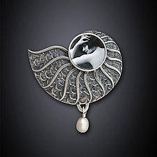 Nautilus Pin by Dawn Estrin (Silver Pin)