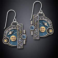 Big Bang Earrings by Dawn Estrin (Silver Earrings)