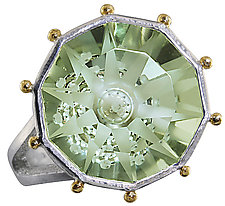 Crazy Umbrella Cut Prasiolite Ring by Karina Mattei (Silver & Stone Ring)