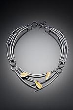 Sticks and Petals Necklace by Lori Gottlieb (Silver & Bimetal Necklace)