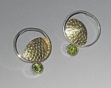 Open Pebble Earrings by Lori Gottlieb (Gold, Silver & Stone Earrings)