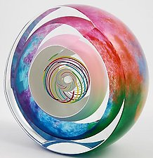 Candy Multi Paperweight by Paul D. Harrie (Art Glass Paperweight)