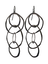 Large Jumble Earrings by Lisa Crowder (Silver Earrings)