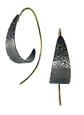 Spiral Bedrock Hoops by Jenny Reeves (Silver Earrings)