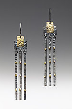 Gold Studded Swing Drops by Anna Tai (Gold & Silver Earrings)