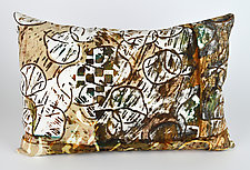 Mocha 3 by Ayn Hanna (Cotton & Linen Pillow)