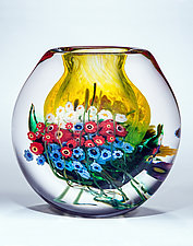 Landscape Series Vase Daffodil by Shawn Messenger (Art Glass Vase)