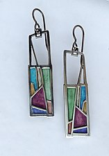 No. 444 Acadia Earrings by Carly Wright (Enameled Earrings)