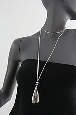 Small Triangle with Beads by John Siever (Silver Necklace)