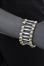 Hammered Wire with Beads by John Siever (Silver Bracelet)