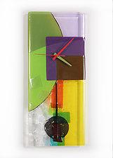 Tumbling Colors by Nina  Cambron (Art Glass Clock)