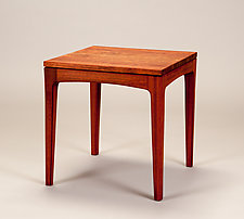 Square End Table by Alan Powell (Wood Side Table)