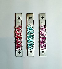 Woven Clear Lines Mezuzah II by Alicia Kelemen (Art Glass Mezuzah)