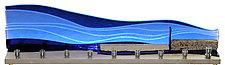 Jerusalem Western Wall Menorah in Blue Skyline I by Alicia Kelemen (Art Glass Menorah)