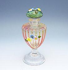 Pink Urn Perfume Bottle by Chris Pantos (Art Glass Perfume Bottle)
