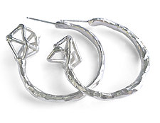 Geo Hoops by Aimee Petkus (Silver Earrings)
