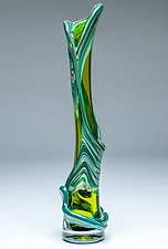 Ivy Vine Vase in Lime Green by Chris Mosey (Art Glass Vase)