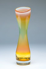 Small Simplicity Vase in Iris Gold by Chris Mosey (Art Glass Vase)