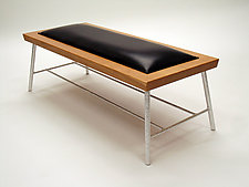 Recycled Cherry Bench by Cosmo Barbaro (Wood Bench)