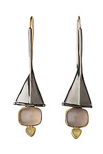 Tri-Form Earrings by Alison Antelman (Gold, Silver & Stone Earrings)