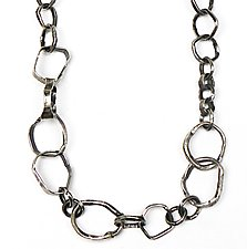 Hammered Hoops Chain by Lauren Passenti (Silver Necklace)