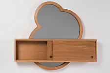 Crop Circles Mirror & Cabinet by Matt Hutton (Wood Cabinet)