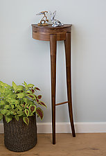 Two-Legged Wall Fossil by Matt Hutton (Wood Side Table)