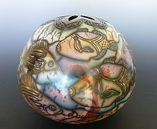 Tropical Dream by Kate & Will  Jacobson (Ceramic Vessel)