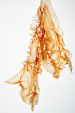 Silk Water Dew in Orange by Yuh Okano  (Silk Scarf)
