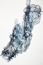 Silk Water Dew in Blue by Yuh  Okano (Silk Scarf)