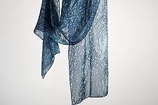 Silk Mist Soft Chiffon Scarf in Indigo by Yuh Okano  (Silk Scarf)