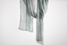 Silk Mist Soft Chiffon Scarf in Beige by Yuh Okano  (Silk Scarf)